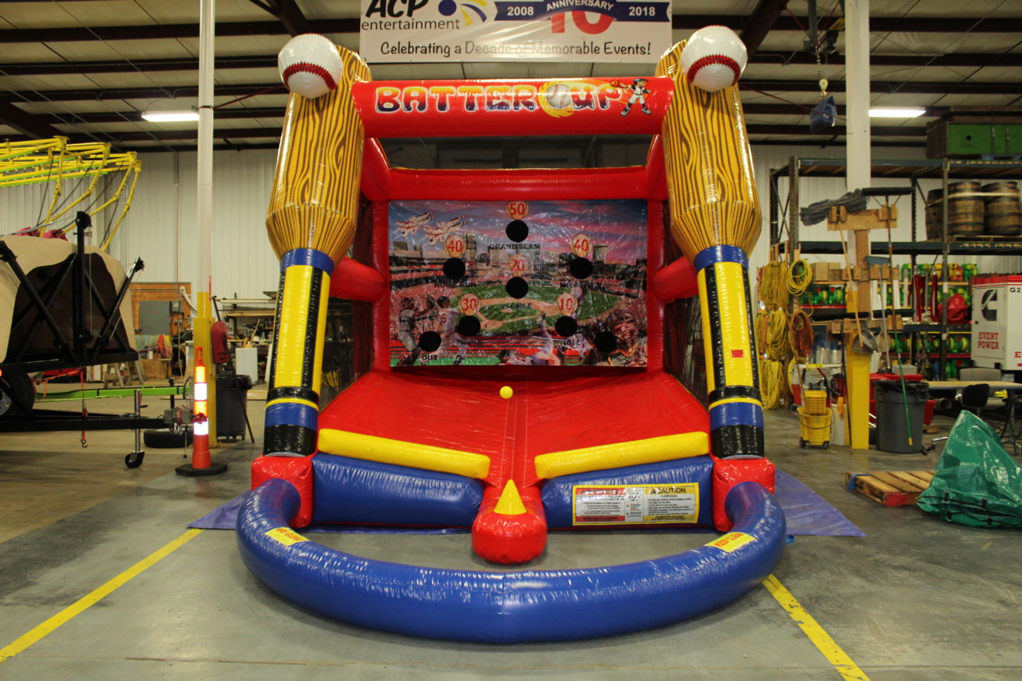 Batters up inflatable tball rental grand rapids