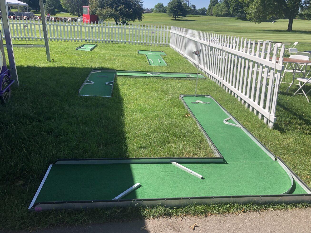 Event mini golf course