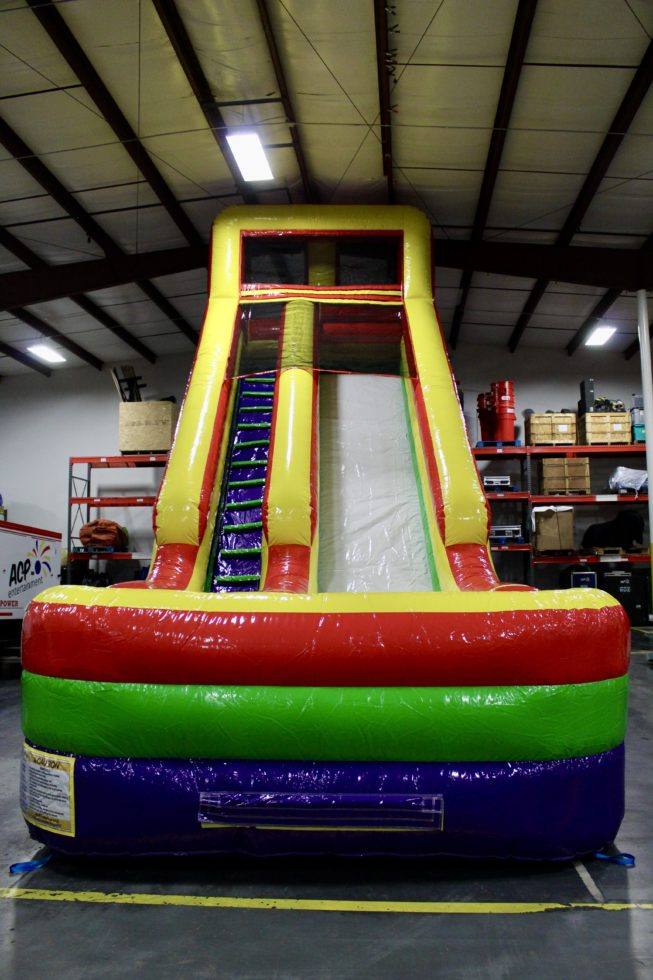 Front view of 24' commander slide inflatable rental