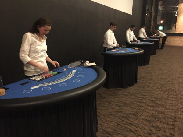 line of black jack tables