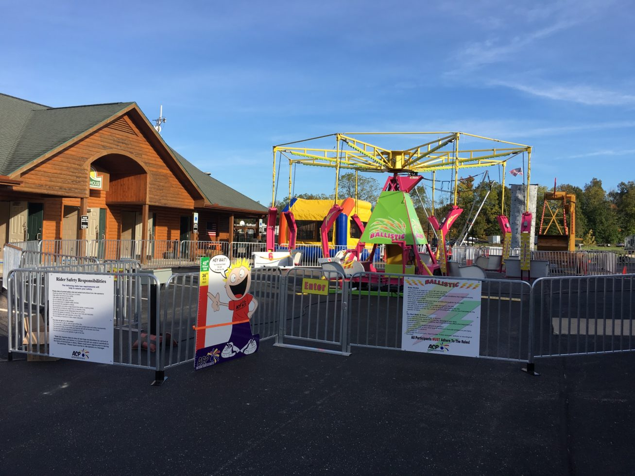 Ballistic Carnival ride setup at event