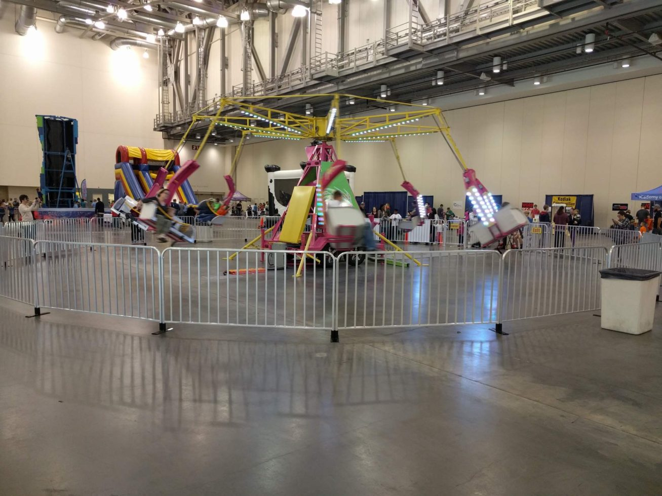 ballistic carnival ride inside convention center
