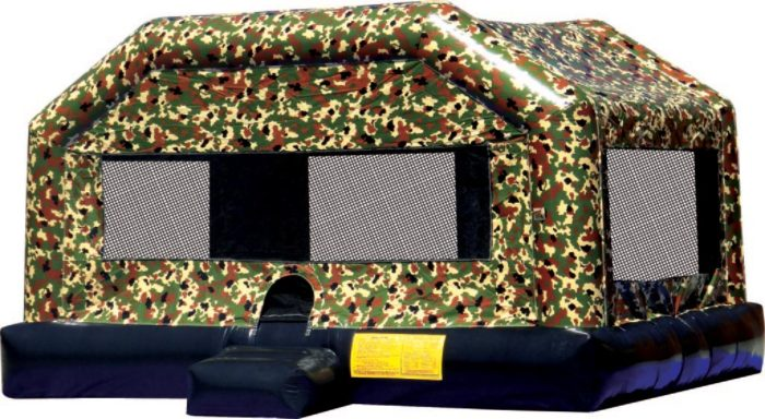 Camo Bounce inflatable rental