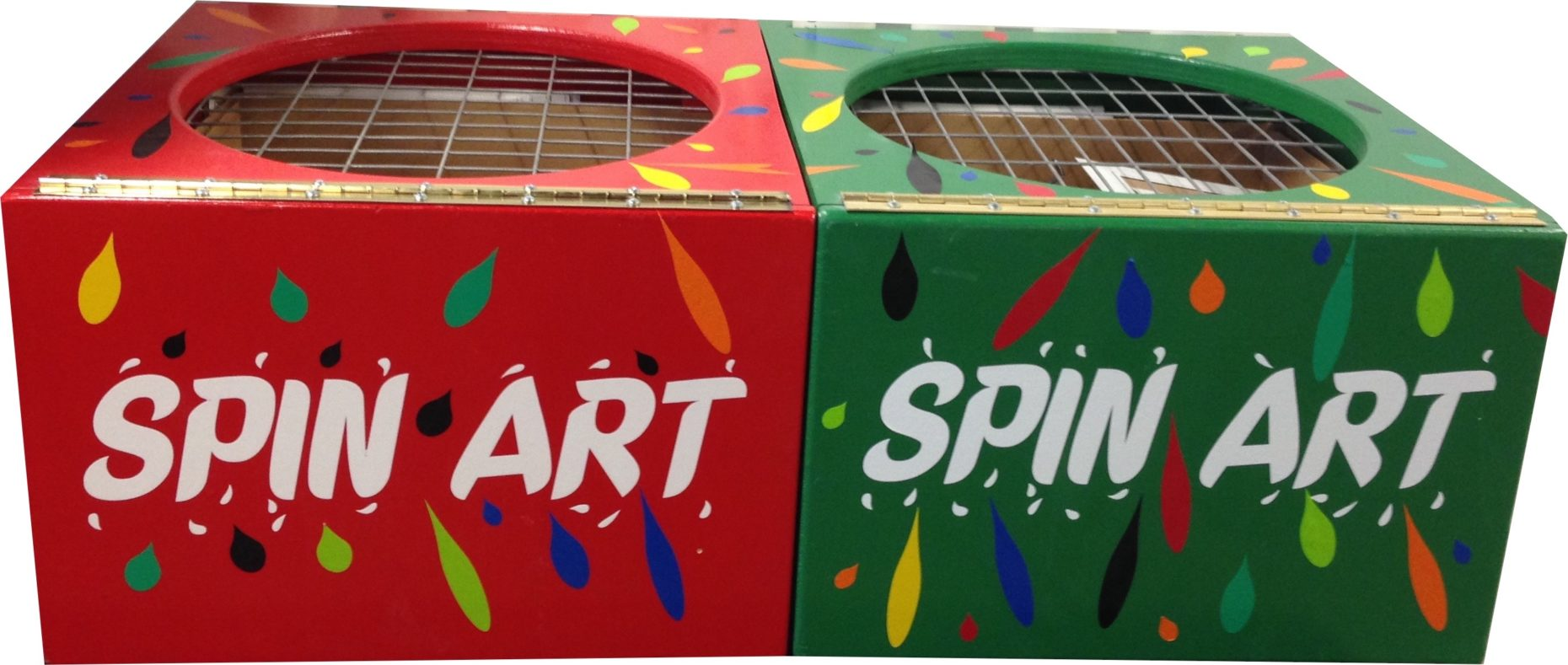 Spin art machines