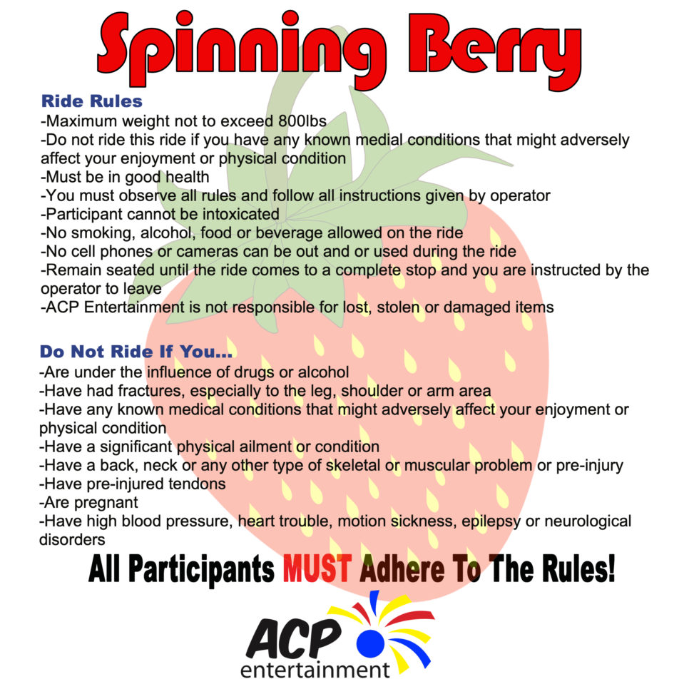 Spinning berry sign