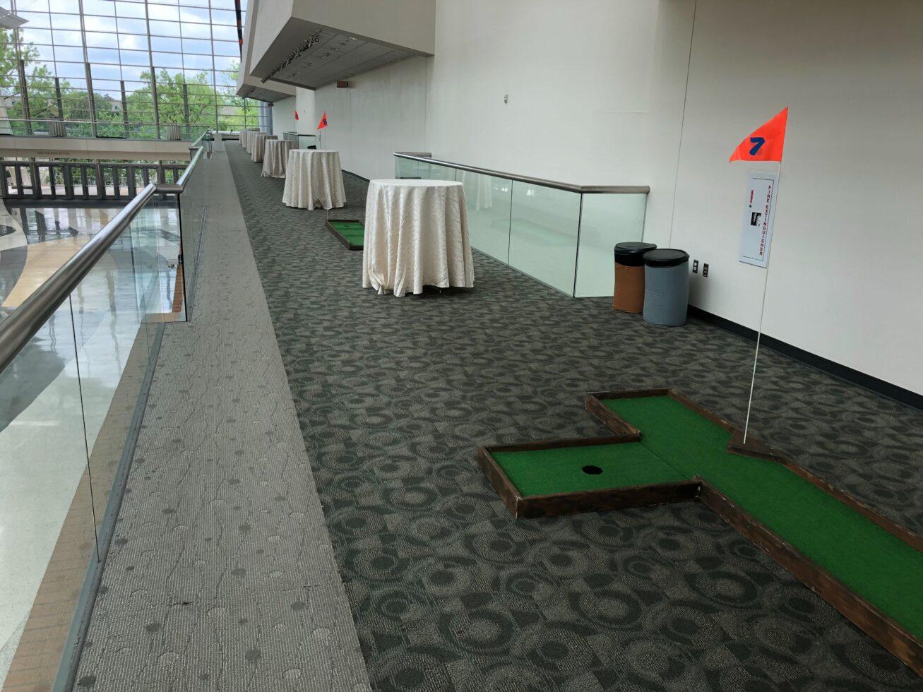 Wooden mini golf course