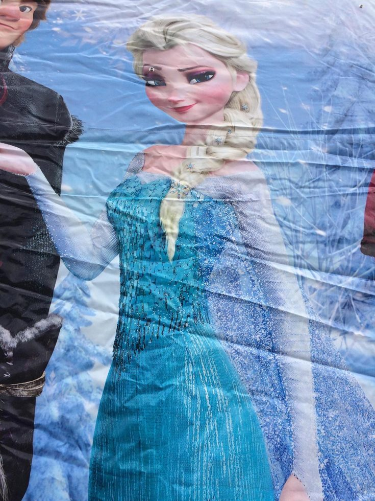 Frozen Bounce House Elsa closeup