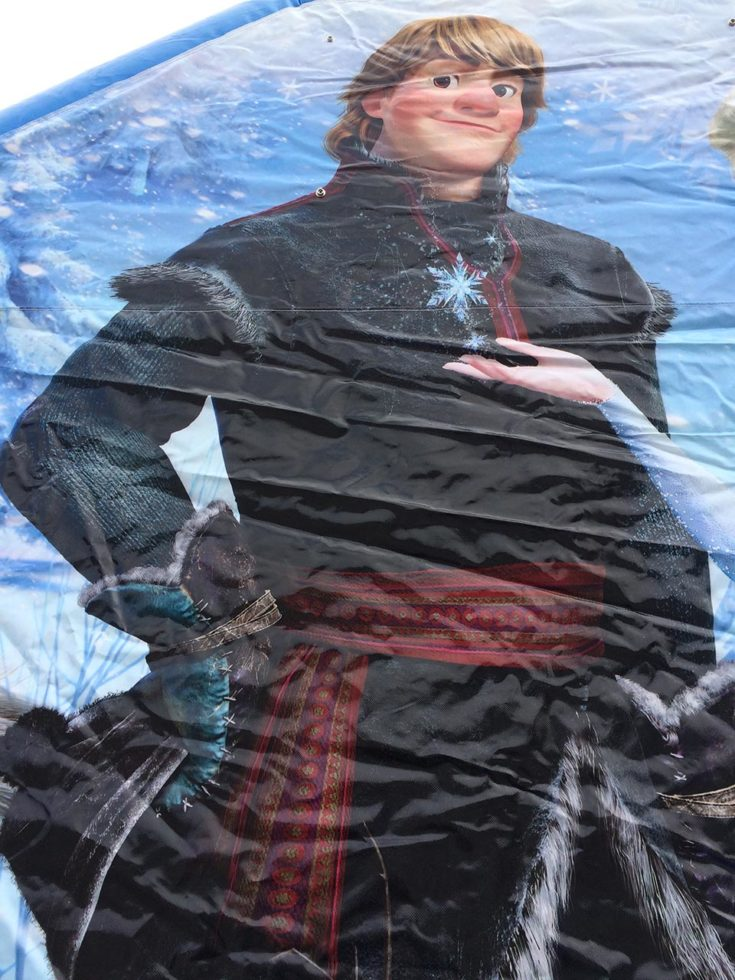 Frozen Bounce House Kristoff closeup