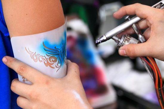 Airbrush tattoos acp entertainment for Grand rapids mi tattoo