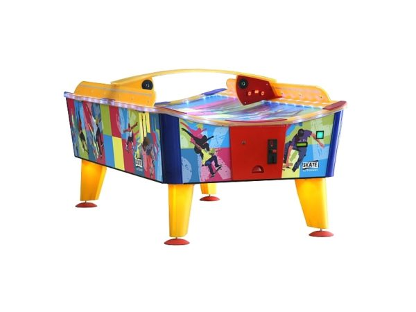 Curved air hockey table rental