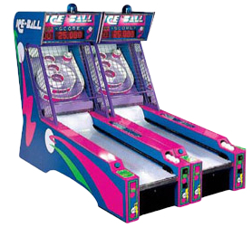 Two SkeeBall arcade games set up