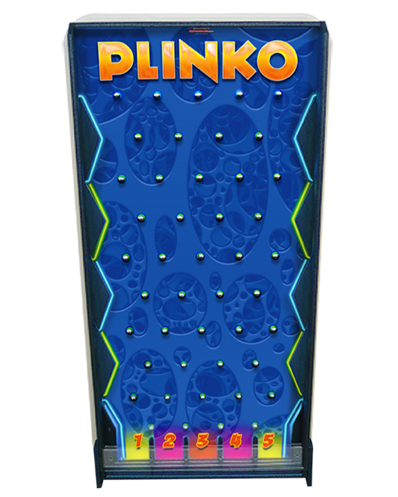 Blue Plinko board