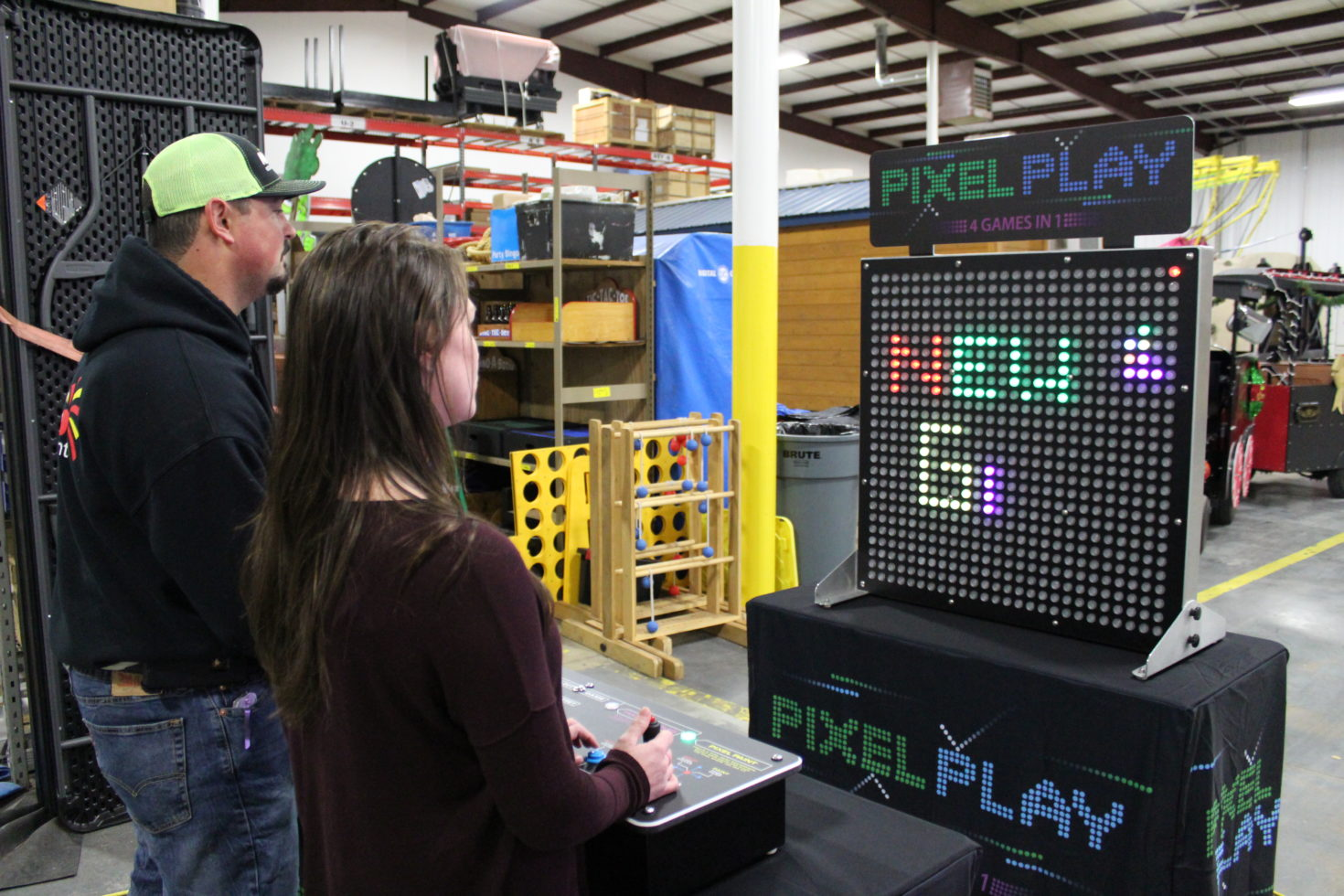 People playing pixel paint
