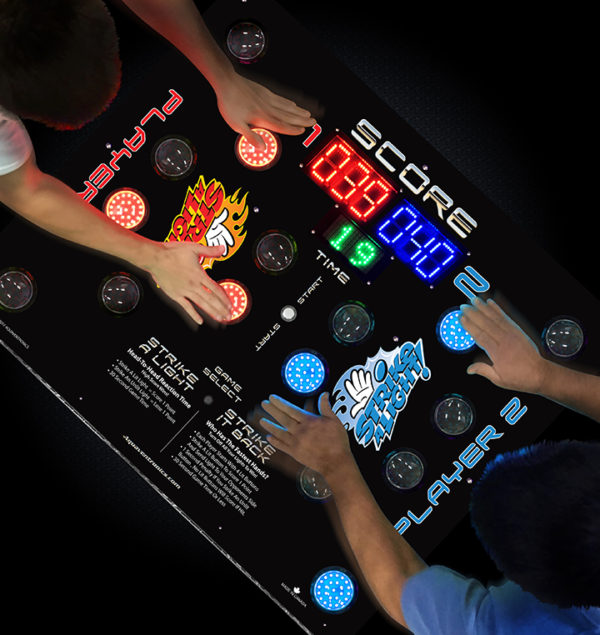 People playing strike a light game