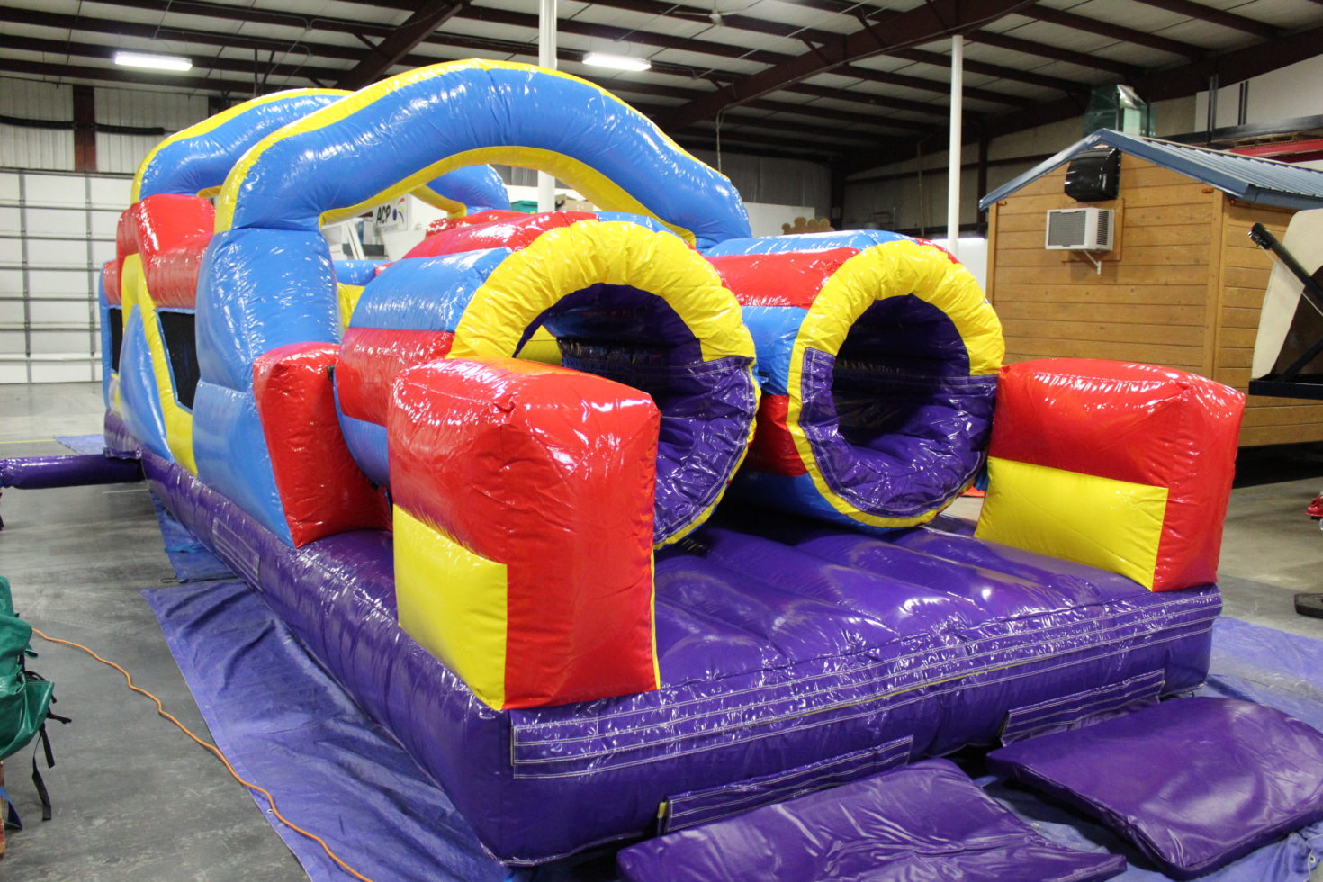 33' inflatable obstacle course ending