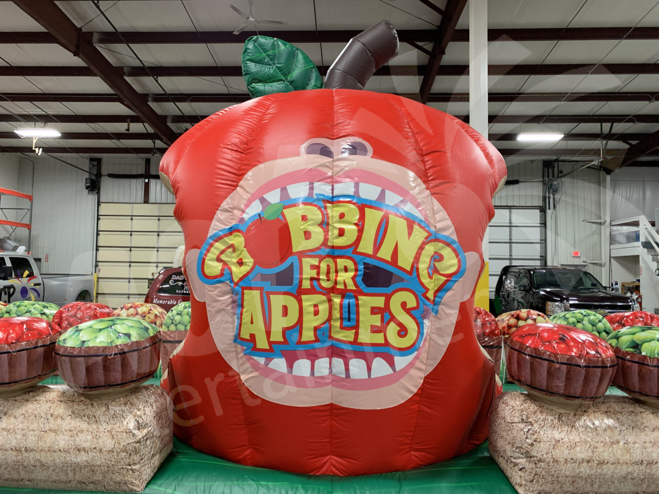 Bobbing for Apples center apple logo