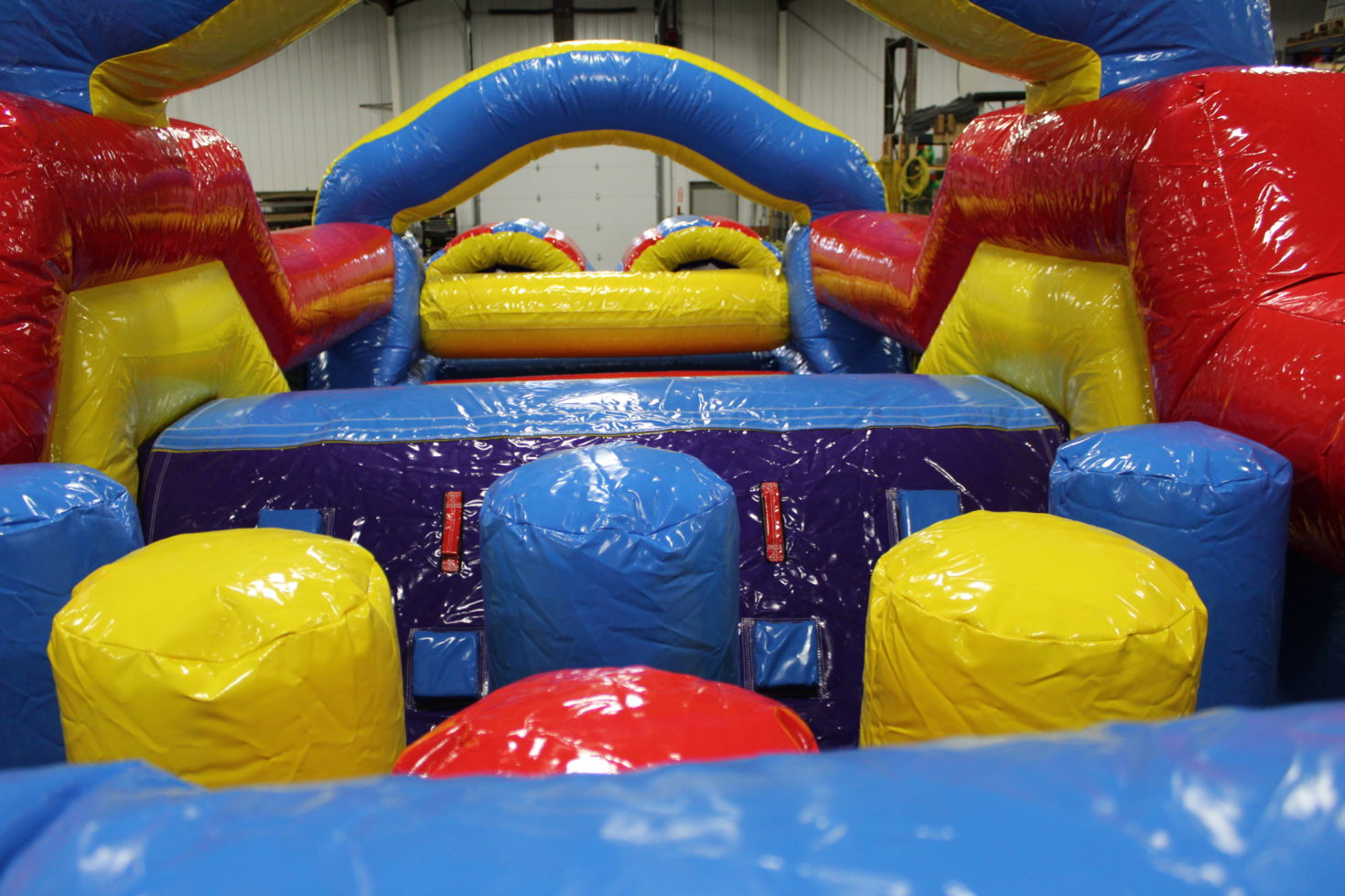 inside obstacle course inflatable