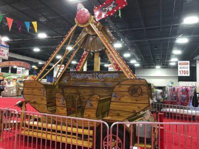 Pirate Ship Carnival Ride setup in Novi Convention Center Detroit area