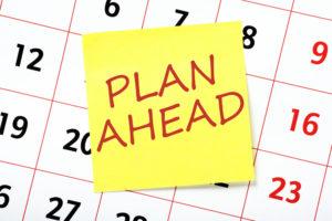 Plan ahead graphic