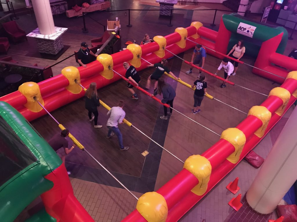 Human Foosball Inflatable Rental Grand Rapids