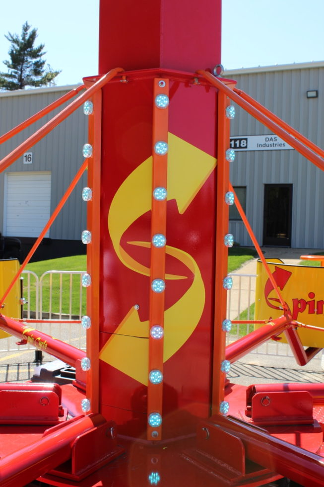 Center shaft of Spin Cycle Carnival Ride