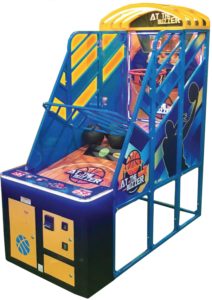 At the buzzer arcade game renal side shot