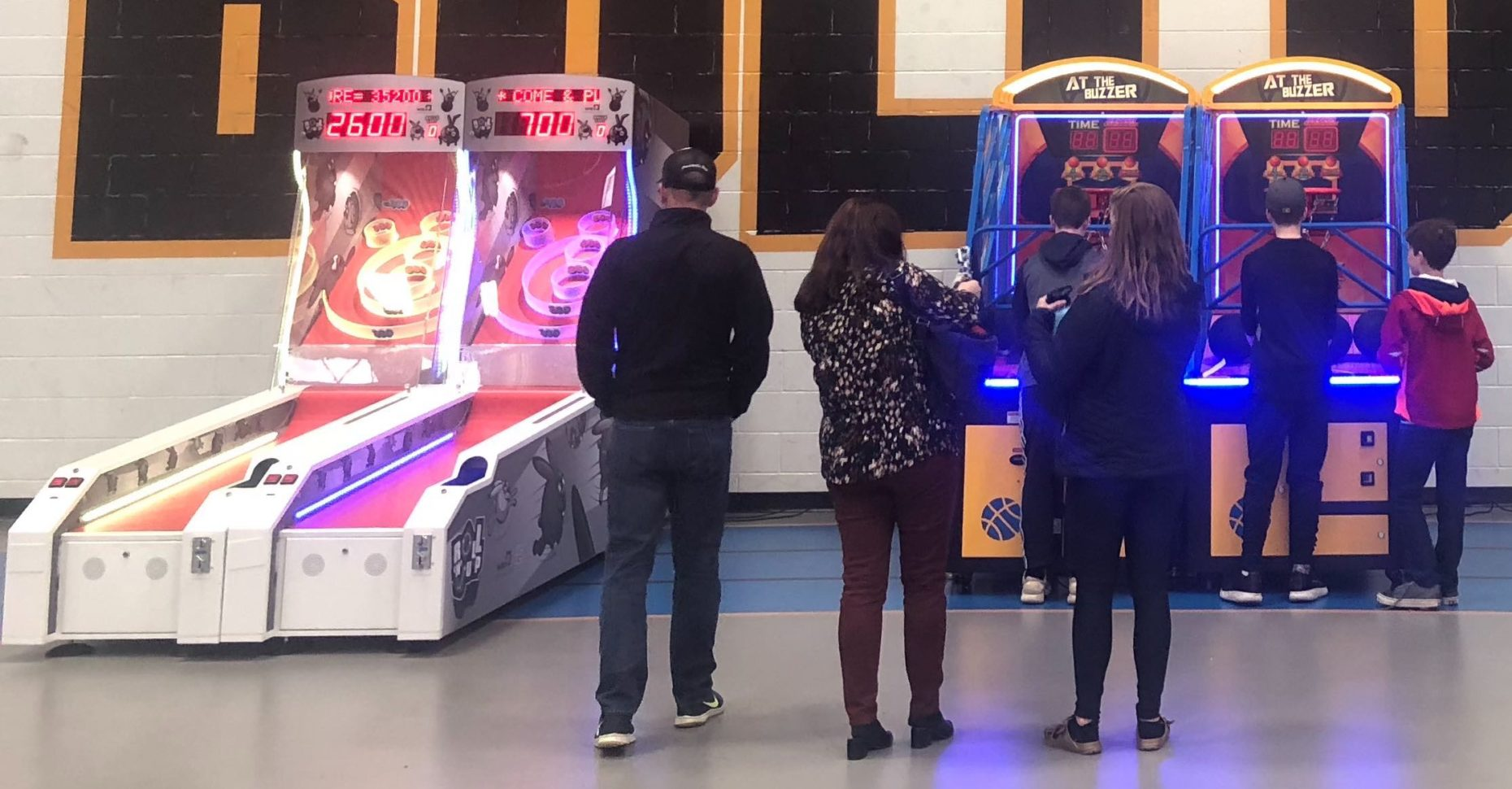Roll-n-Jump Skee Ball and Basketball Games