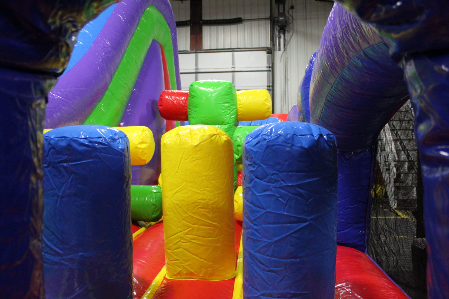 Double Back Obstacle Course Inflatable Rental Michigan