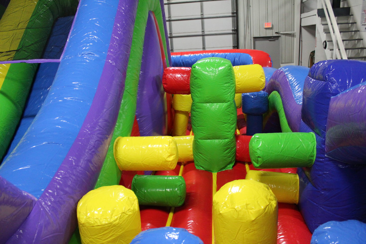 Inside DoubleBack Obstacle course