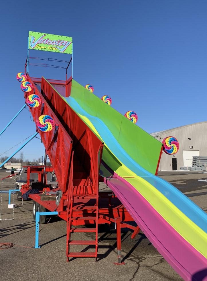 Velocity carnival fair slide rental