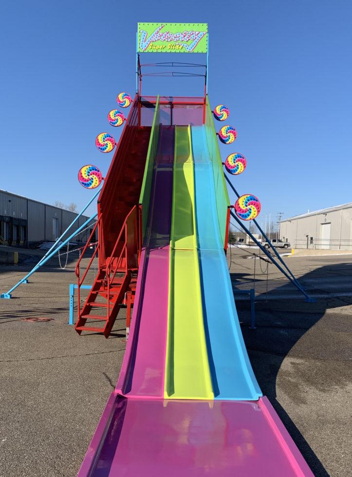 Velocity carnival fiberglass super slide rental Grand Rapids Michigan