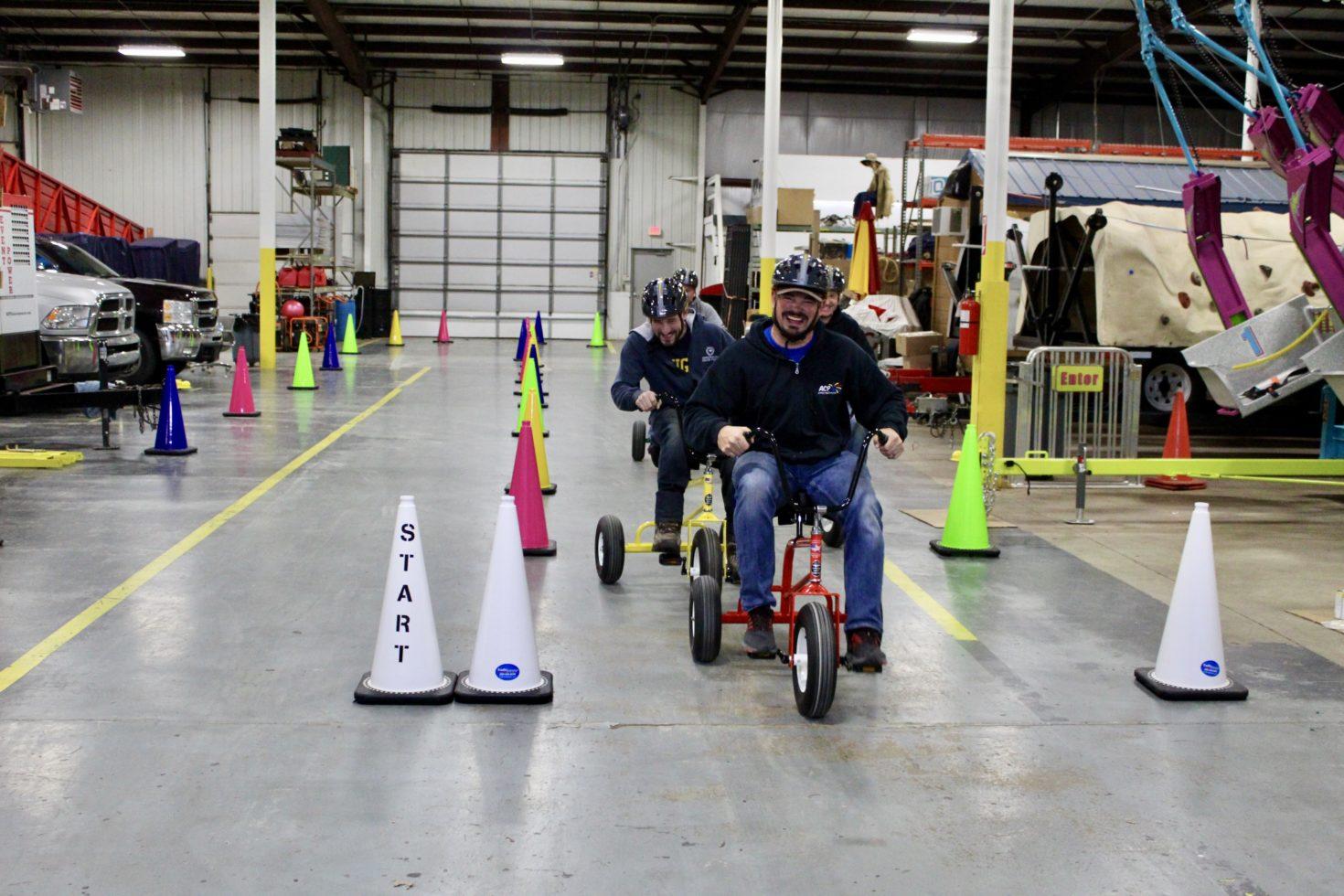 Wacky Trikes Finish Line