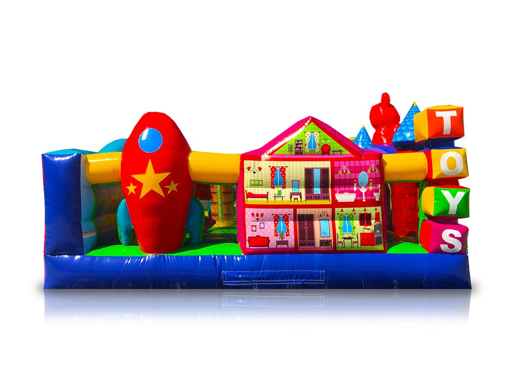Side of Toddler Town inflatable rental
