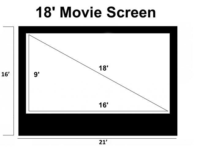 18' Movie Screen Dimensions