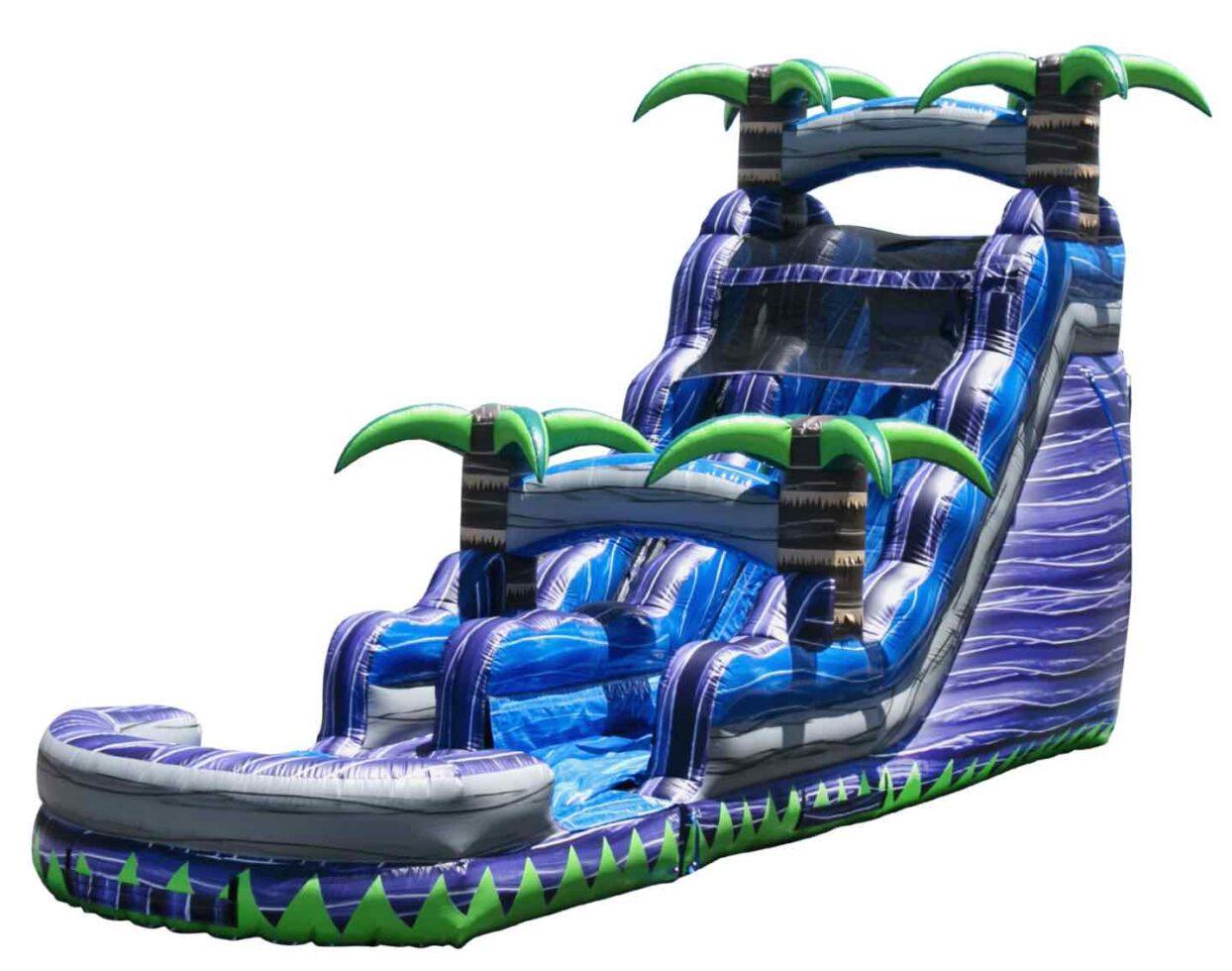 Purple Inflatable Water Slide West Michigan Rental